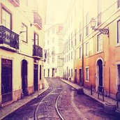 Vintage toned street Wallpaper