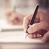 Writing something wallpaper